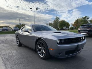 Used 2015 Dodge Challenger Challenger R/T V8 5.7L Ruby Red Leather ROOF NAV for sale in St. George Brant, ON