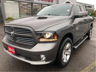 Used 2013 RAM 1500 Sport Quad 4x4 V8 w/Remote Start, Bluetooth, Side for sale in Hamilton, ON