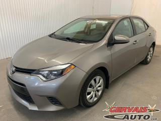 Used 2015 Toyota Corolla LE Caméra de recul Sièges Chauffants Bluetooth for sale in Shawinigan, QC