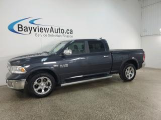 Used 2018 RAM 1500 Laramie - 8SPD AUTO! 4X4! HTD/COOLED LEATHER! NAV! SUNROOF! LOADED! for sale in Belleville, ON