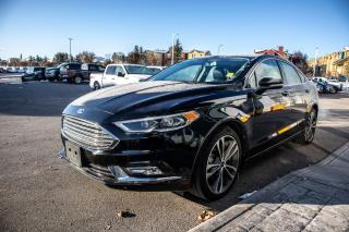 Used 2018 Ford Fusion Titanium AWD, 2.0l I4 GTDI, Remote Keyless Entry, Sync 3, Heated/Cooled Seats, Nav, Moonroof for sale in Okotoks, AB
