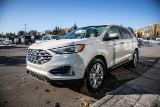 Used 2019 Ford Edge Titanium AWD, Cold Weather Pack, Pano Roof, Adaptive Cruise, 360 Co-Pilot Assist, Fordpass Connect, Wireless for sale in Okotoks, AB