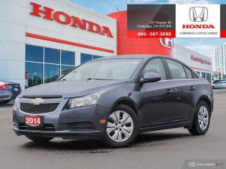 Used 2014 Chevrolet Cruze 1LT REMOTE STARTER | SATELLITE RADIO EQUIPPED | REARVIEW CAMERA WITH GUIDELINES for sale in Cambridge, ON
