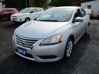 Used 2014 Nissan Sentra FUEL EFFICIENT SV MODEL 5 PASSENGER 1.8L - SFI ENGINE.. ECO-MODE.. SPORT-MODE.. PURE-DRIVE PACKAGE.. BLUETOOTH SYSTEM.. for sale in Bradford, ON