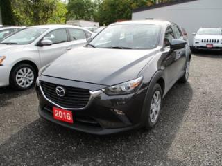 Used 2016 Mazda CX-3 GAS SAVING MAZDA CX-3 SPORT MODEL 5 PASSENGER 2.0L - 4 CYL.. ALL-WHEEL DRIVE.. BLUETOOTH.. BACK-UP CAMERA.. SKYACTIV TECHNOLOGY.. for sale in Bradford, ON