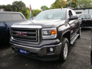 Used 2015 GMC Sierra 1500 WORK READY SLE KODIAK EDITION 6 PASSENGER 5.3L - V8.. 4X4.. CREW CAB.. SHORTY.. HEATED SEATS.. BACK-UP CAMERA..BLUETOOTH..TRAILER BRAKE.. for sale in Bradford, ON