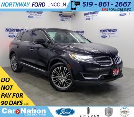 Used 2016 Lincoln MKX Reserve | AWD | LEATHER | PANOROOF | LUXURY PKG | for sale in Brantford, ON