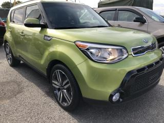 Used 2015 Kia Soul SX Leather with Heated Steering, Heated Seats, BackupCam, Bluetooth, Alloys, Fog Lights, Pwr Windows, K for sale in Kemptville, ON