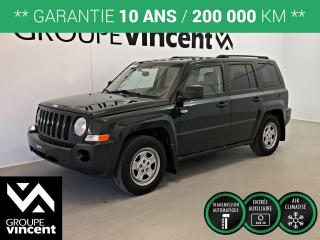 Used 2010 Jeep Patriot NORTH ** GARANTIE 10 ANS ** Parfait pour petit budget! for sale in Shawinigan, QC