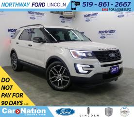 Used 2017 Ford Explorer Sport | AWD | LEATHER | PANOROOF | 3 ROW | for sale in Brantford, ON