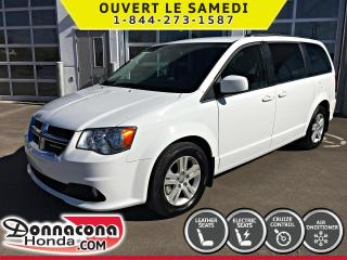 Used 2018 Dodge Grand Caravan Crew Plus *CUIR, GPS, CAMERA* for sale in Donnacona, QC
