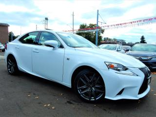 Used 2016 Lexus IS 200T F-Sport.Red Leather.Paddle Shift.One Owner for sale in Kitchener, ON