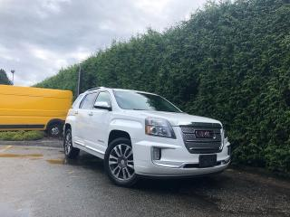 Used 2016 GMC Terrain DENALI AWD + LEATHER HEATED FT SEATS + SUNROOF + BACK-UP CAMERA + BLIND-SPOT MONITORING SYSTEM + NO EXTRA DEALER FEES for sale in Surrey, BC