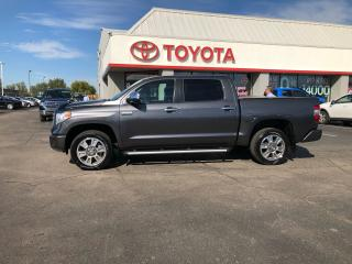 Used 2014 Toyota Tundra CREWMAX Platinum 4x4 5.7 navigation leather for sale in Cambridge, ON