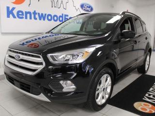 Used 2018 Ford Escape SEL 4WD ecoboost with NAV, sunroof, heated power leather seats, power liftgate, keyless entry for sale in Edmonton, AB