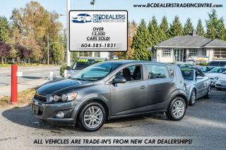 Used 2013 Chevrolet Sonic LT, Sunroof, Low Km's, Heated Seats, Bluetooth! for sale in Surrey, BC