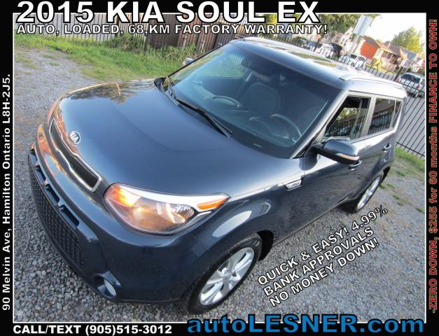 2015 Kia Soul -ZERO DOWN, $255 for 60 months FINANCE TO OWN!