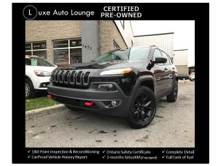Used 2016 Jeep Cherokee Trailhawk V6 4WD, SUNROOF-NAV-HEATED/COOLED SEATS! for sale in Orleans, ON