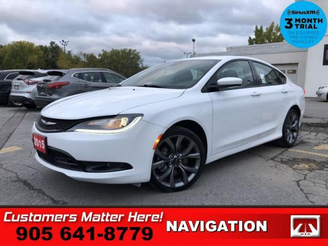2015 Chrysler 200 S  NAV LEATH ROOF HS P/SEAT DUAL-EXHST