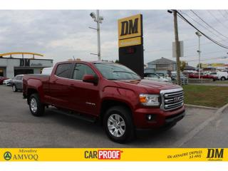Used 2018 GMC Canyon SLE CREW  4X4  CAMÉRA  TOILE  DÉMARREUR  HITCH for sale in Salaberry-de-Valleyfield, QC