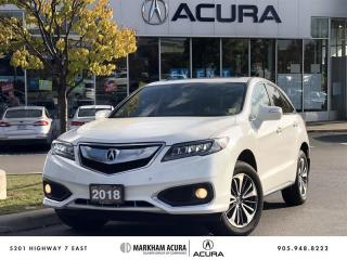 Used 2018 Acura RDX Elite at AWD, Vented Seats, Park Sensors for sale in Markham, ON