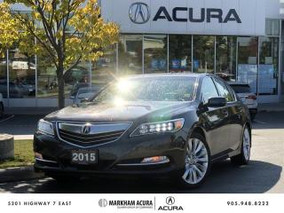 Used 2015 Acura RLX Elite at 3.5L P-AWS, Krell Audio, Navi for sale in Markham, ON