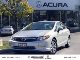 Used 2012 Honda Civic Sedan LX at Bluetooth, Low km, Air Conditioning for sale in Markham, ON