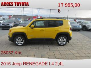 Used 2016 Jeep Renegade 4x4 North for sale in Rouyn-Noranda, QC