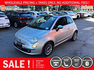 Used 2013 Fiat 500 Lounge - Local / Sunroof / Leather for sale in Richmond, BC