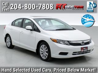 Used 2012 Honda Civic Sdn EX for sale in Winnipeg, MB