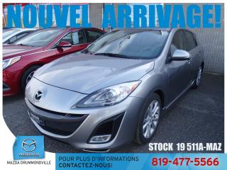Used 2010 Mazda MAZDA3 Sport GT|CUIR|TOITOUV|BLUETOOTH|2.5L|MAG| for sale in Drummondville, QC