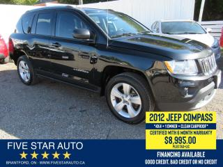 Used 2012 Jeep Compass 4X4 *Clean Carproof* Certified w/ 6 Month Warranty for sale in Brantford, ON