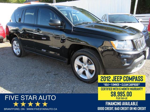 2012 Jeep Compass 4X4 *Clean Carproof* Certified w/ 6 Month Warranty