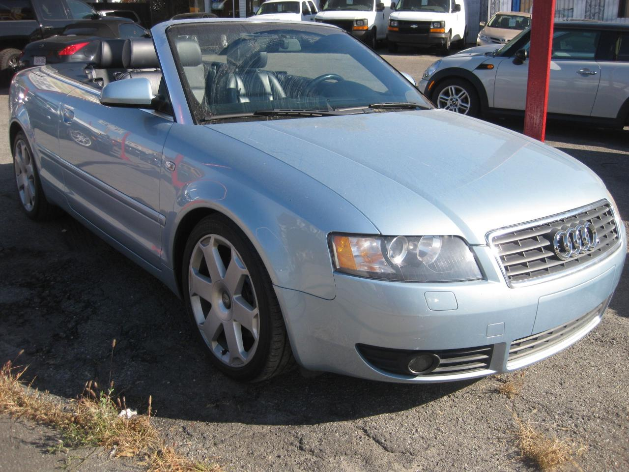 2003 Audi A4 3.0L V6 Convertible Auto 4 pass leather AC