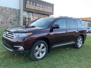 Used 2013 Toyota Highlander LIMITED.4WD.7 PASS.NAVI.REAR VIEW CAM.BLUETOOTH. for sale in North York, ON