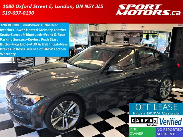 2016 BMW 3 Series 320i xDrive Sport+RED Leather+Sensors+New Brakes