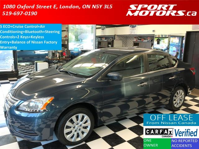 2015 Nissan Sentra S ECO+Bluetooth+Keyless Entry+A/C! ONLY 32,000 KMs