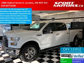 Used 2016 Ford F-150 XLT XTR 4x4 5.0L V8 SuperCrew+GPS+Camera+New Tires for sale in London, ON