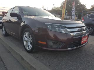 Used 2012 Ford Fusion SE-EXTRA CLEAN-4 CYL-1 YEAR WARRANTY-AUX-ALLOYS for sale in Scarborough, ON