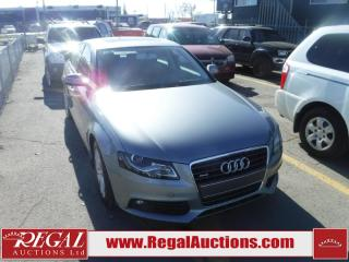 Used 2010 Audi A4 Base 4D Sedan Qtro 2.0T AWD for sale in Calgary, AB