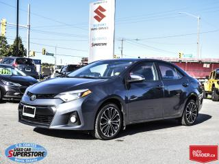 Used 2015 Toyota Corolla S ~Nav ~Backup Cam ~Heated Leather ~Power Moonroof for sale in Barrie, ON