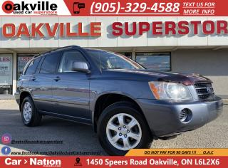 Used 2003 Toyota Highlander AWD V6 | LEATHER | VERY LOW KM | GREAT VALUE for sale in Oakville, ON