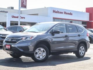 Used 2016 Honda CR-V LX|SERVICE HISTORY ON FILE|ACCIDENT FREE for sale in Burlington, ON