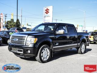Used 2011 Ford F-150 Platinum Super Crew 4x4 ~Nav ~Backup Cam ~Leather for sale in Barrie, ON