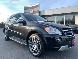Used 2010 Mercedes-Benz ML-Class ML63 AMG 4MATIC 6.3L V8 DVD NAVI SUNROOF for sale in Langley, BC