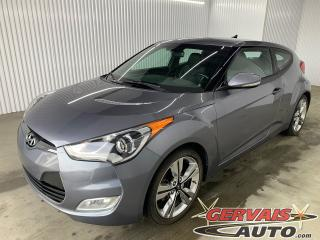 Used 2016 Hyundai Veloster Tech GPS MAGS CUIR/TISSUS TOIT PANORAMIQUE CAMÉRA BLUETOOTH for sale in Shawinigan, QC
