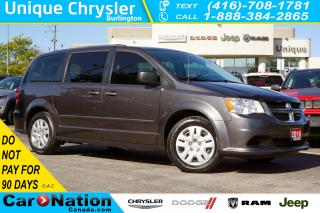 Used 2016 Dodge Grand Caravan SE/CVP| 3RD ROW STOW N'GO| DUAL CLIMATE for sale in Burlington, ON