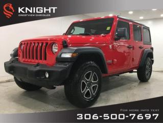 New 2020 Jeep Wrangler Unlimited Sport 'S' | Heated Seats and Steering Wheel | Remote Start for sale in Regina, SK