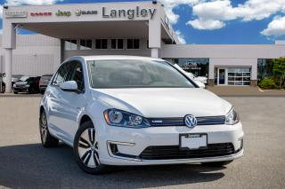 Used 2016 Volkswagen Golf e-Golf BACK-UP CAMERA, BLUETOOTH, APPLE CARPLAY, ANDROID AUDIO, HEATED SEATS AND KEY-LESS ENTRY! for sale in Surrey, BC