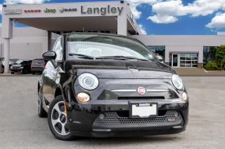 Used 2016 Fiat 500 E BASE ELECTRIC, RANGE OF 135 KM, NAVIGATION, LEATHER, BLUETOOTH! for sale in Surrey, BC